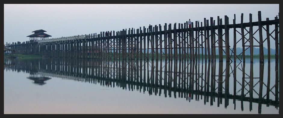 U Bein Bridge, the Longest Teak Bridge in the World, Amarapura, Mandalay, Myanmar